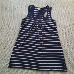 Medium Cabi Racerback Navy White Tank